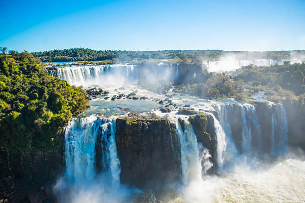 Iguazu Falls or Devils Throat stock photo