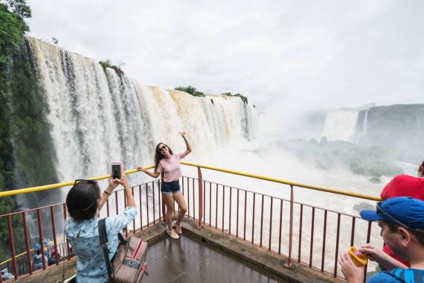 Iguazu falls (Brazil) stock photo