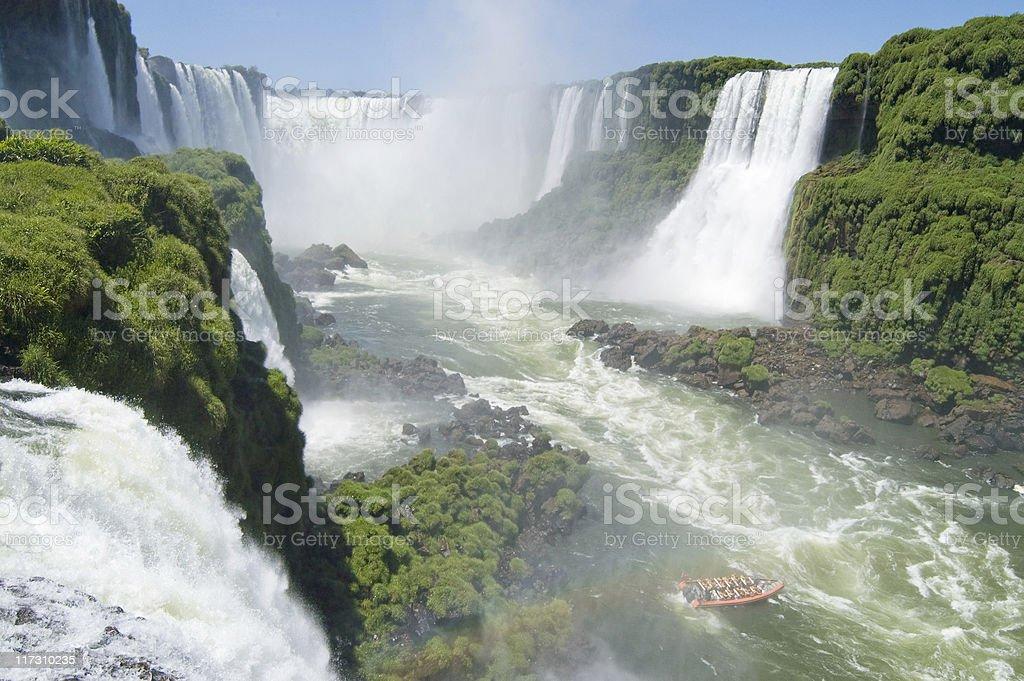 Iguazu Falls, waterfalls of South America stock photo