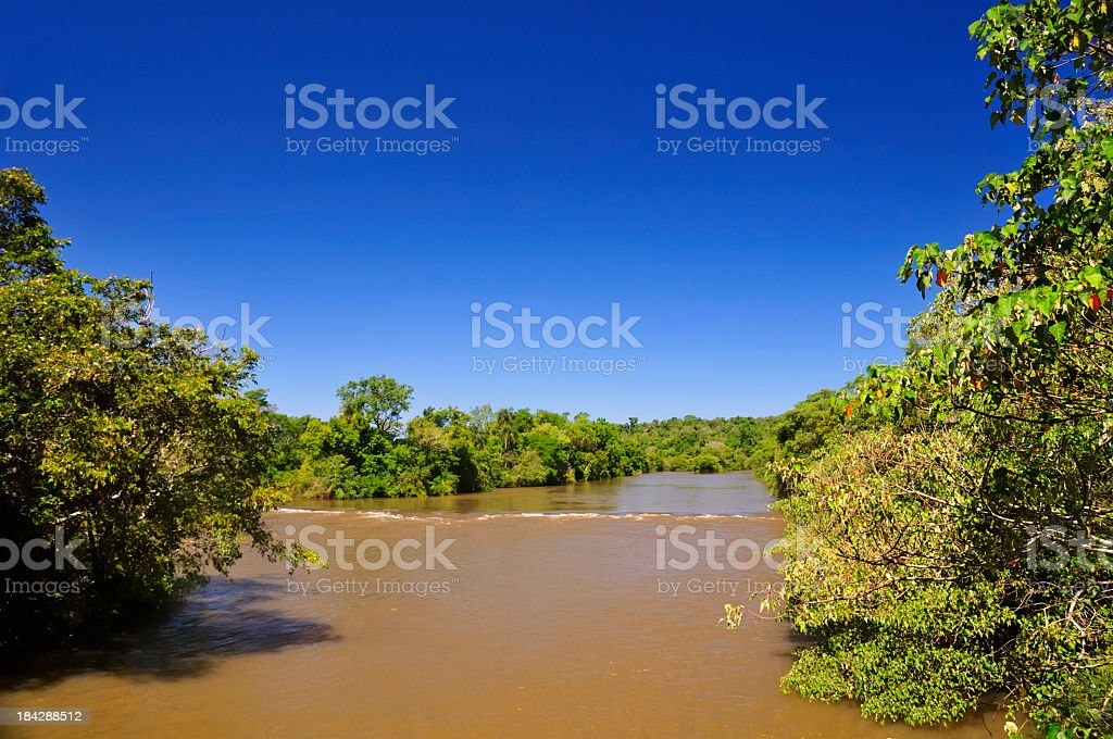 Iguazu river royalty-free stock photo