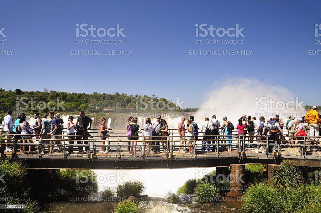 Iguazu tourists royalty-free stock photo