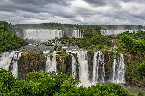Iguaçu in Brazil and Iguazu in Argentina impresses by the landscapes and the amount of running water, being a breathtaking image