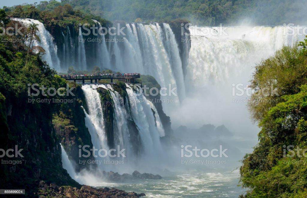 Iguazu Waterfalls Garganta del Diablo stock photo