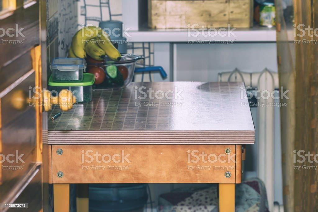 Iinterior Ist Eine Sehr Kleine Küche Esstisch In Kleiner ...
