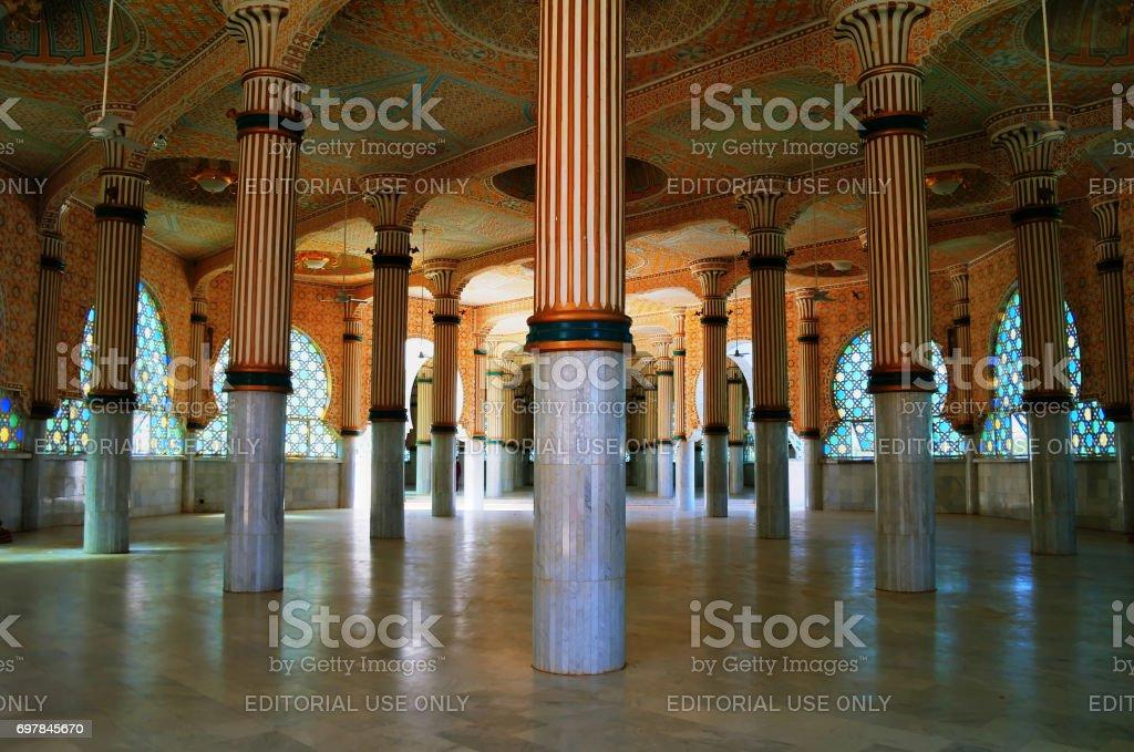 Iinterior of Touba Mosque , center of Mouridism and Cheikh Amadou Bamba burial place - 17.11.2012 Touba, Senegal stock photo
