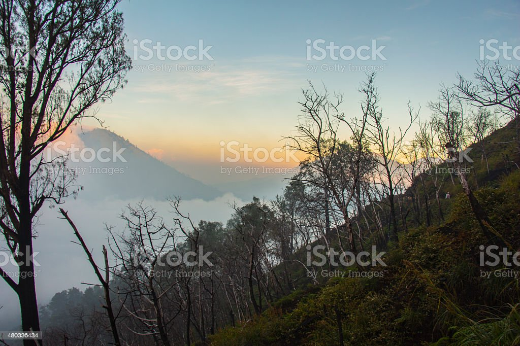 Kawah Ijen, Java, Indonesia stock photo