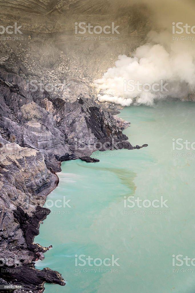 Ijen Crater, Java, Indonesia stock photo