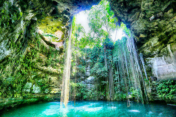 ik kil, yucatan, mexico - mexico stock photos and pictures