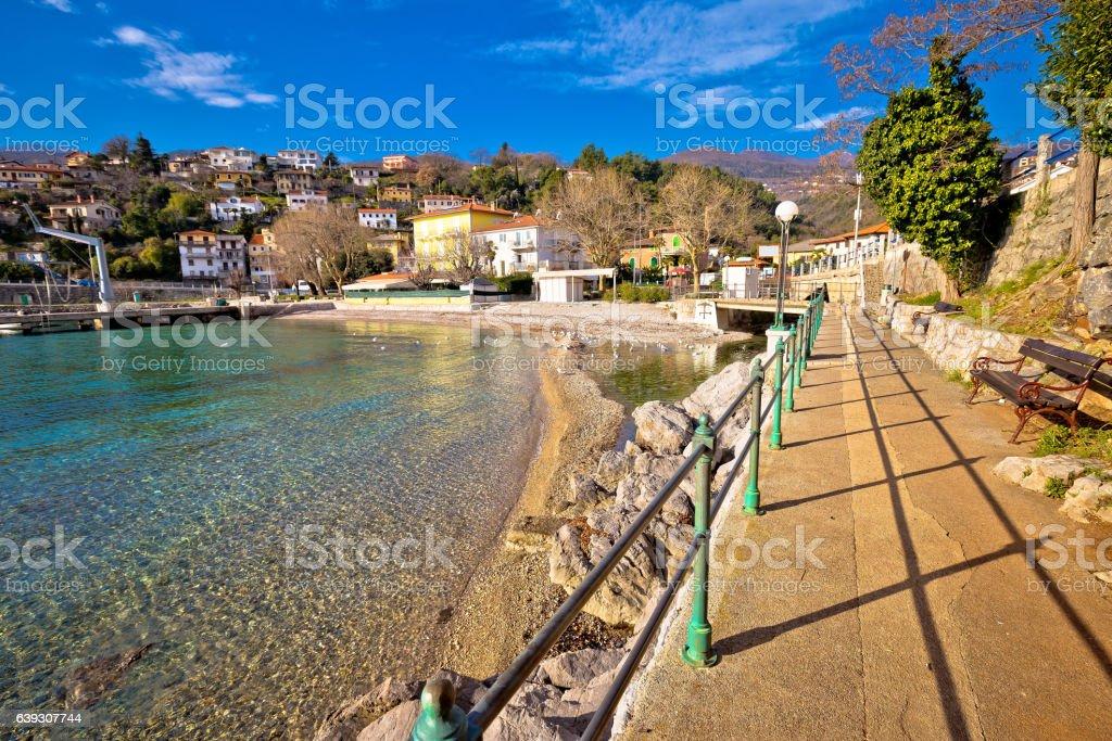 Ika village and Lungomare walkway view stock photo