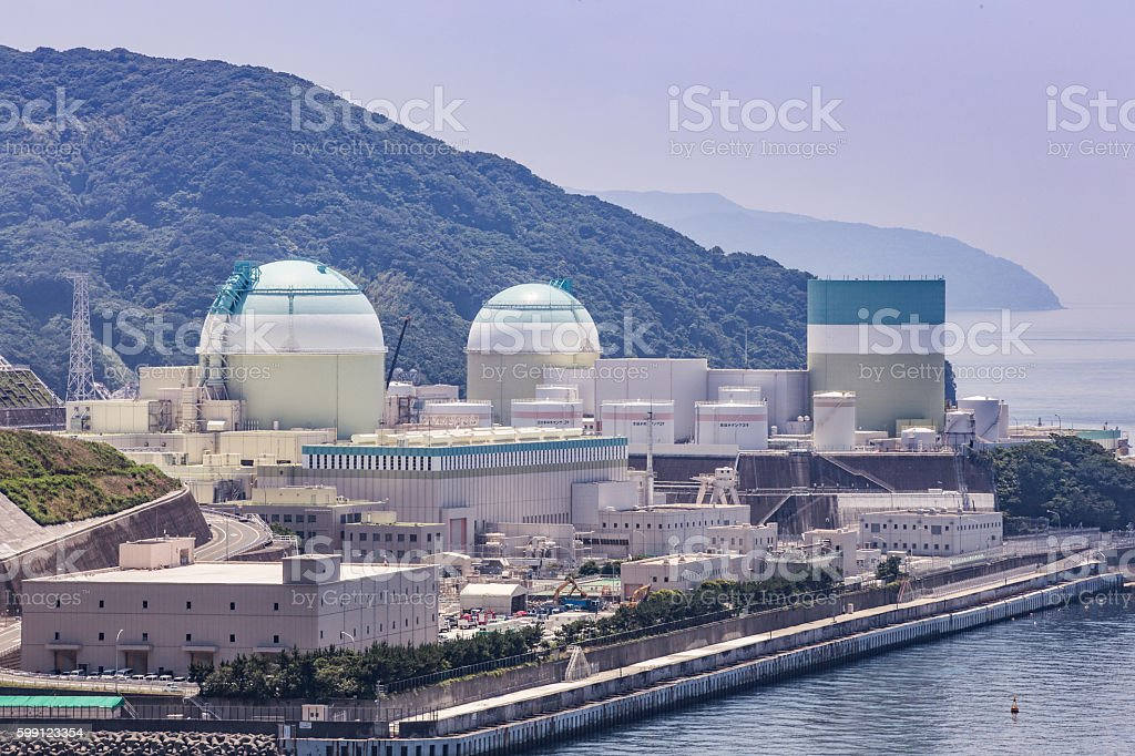 Ikata nuclear power plant (Ehime Prefecture) in Japan stock photo