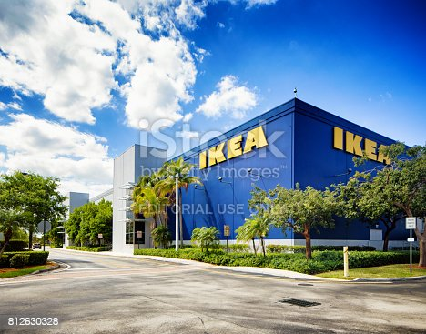 istock Ikea furniture store in Sunrise Florida near Fort Lauderdale 812630328