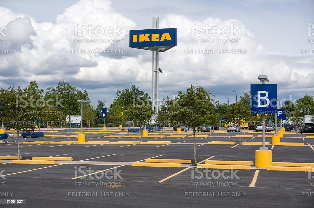 Ikea parking lot royalty-free stock photo