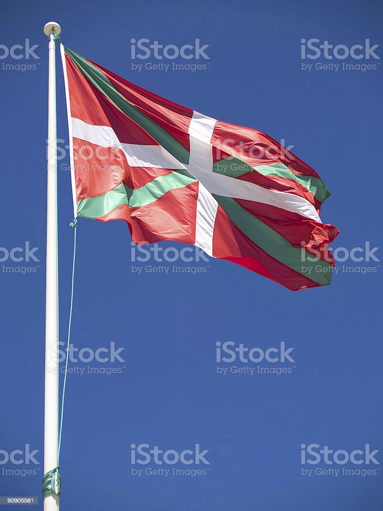 Ikurriña, Basque Flag royalty-free stock photo