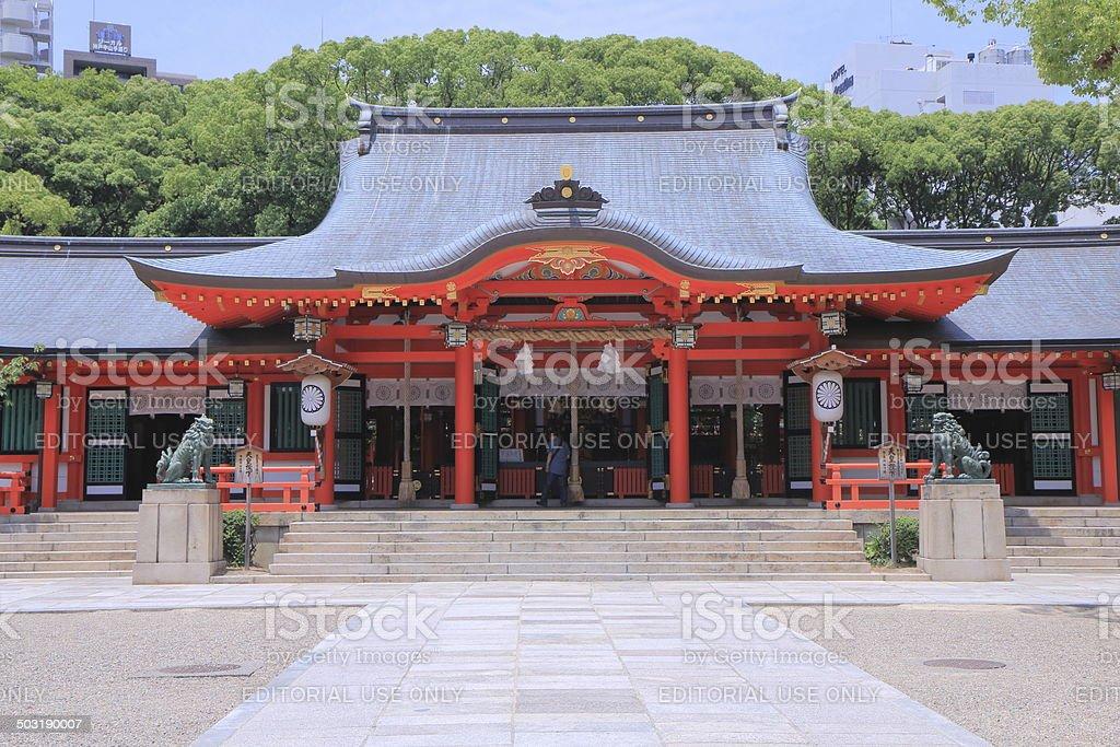 Ikuta Shrine Kobe Japan stock photo
