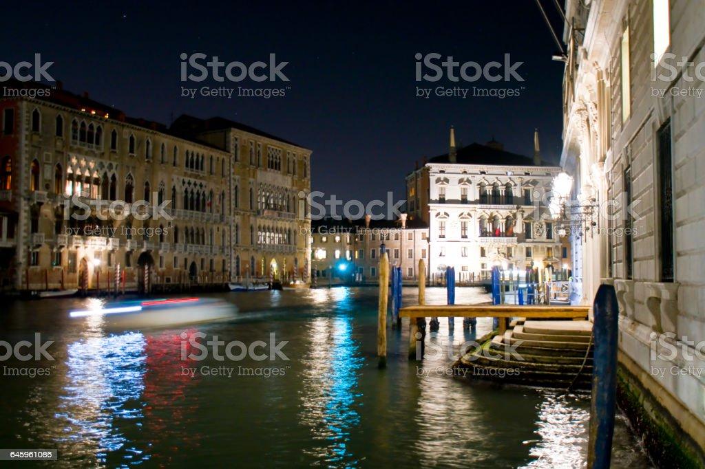 il canal grande di notte stock photo