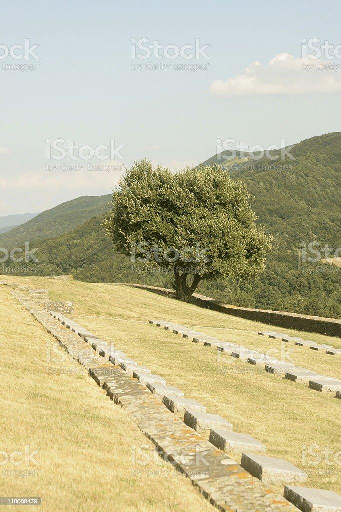 Il Cimitero Militare Tedesco del Passo della Futa stock photo