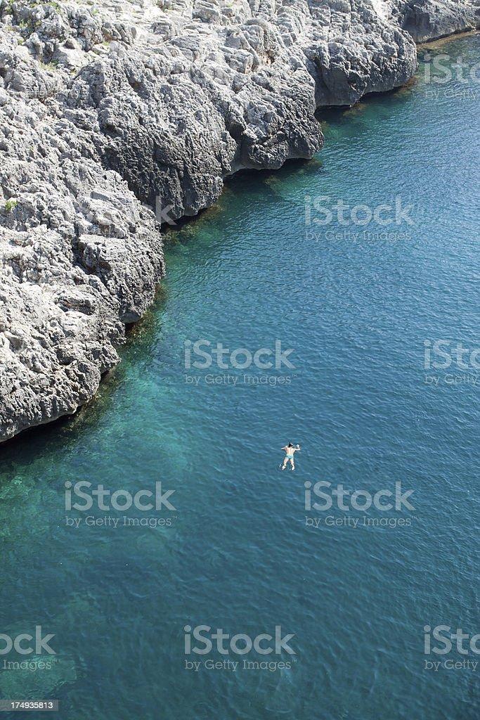 Il Ciolo, Salento - Mediterranean Sea, Puglia, Italy stock photo