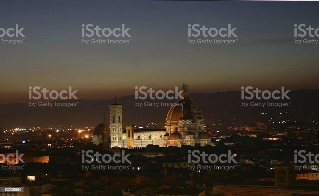 Il Duomo at Night royalty-free stock photo