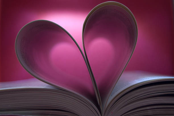 Il libro dell'amore La foto vuole essere icona per libri romantici che parlano di amore. libro stock pictures, royalty-free photos & images