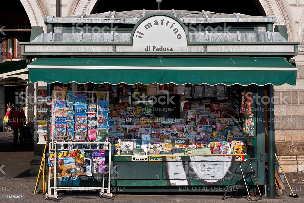 'il mattino' news stand royalty-free stock photo