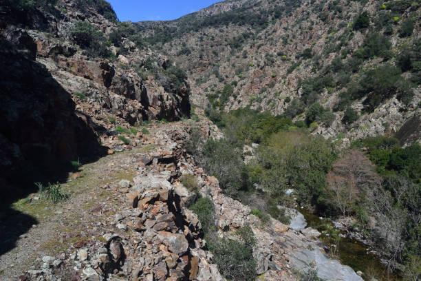 Il percorso di trekking noto come La Via dell'Argento Il percorso di trekking noto come La Via dell'Argento, Sarrabus, Burcei percorso stock pictures, royalty-free photos & images
