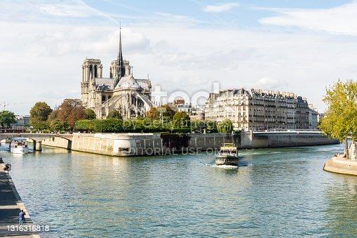 istock Ile de la Cite island in Paris, France 1316316818
