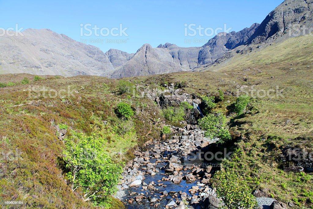 Ile de Skye, Ecosse stock photo
