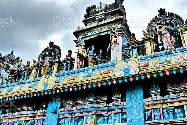 Ile Maurice, Grand Baie, temple tamoul, architecture