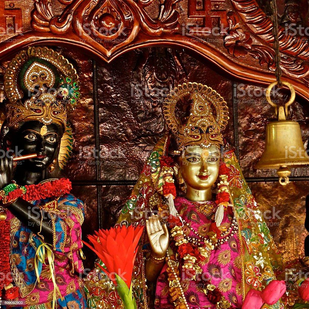 Ile Maurice Grand Bassin Krishna Radha Stock Photo - Download Image Now