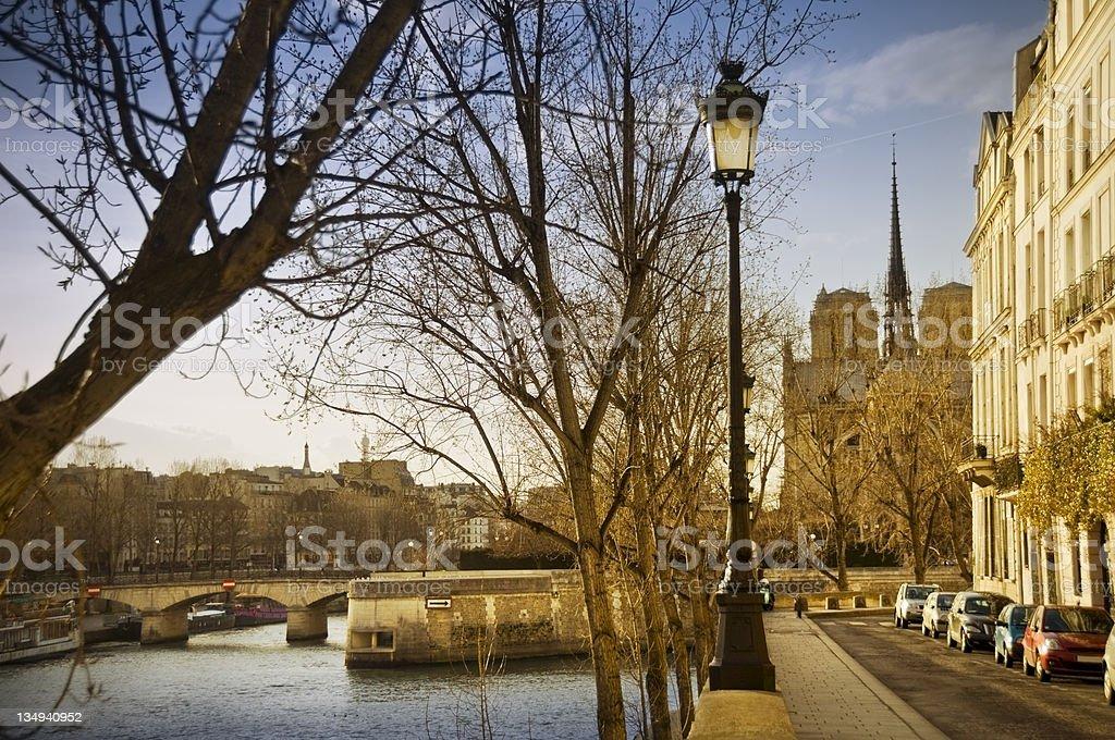 Ile Saint Louis royalty-free stock photo