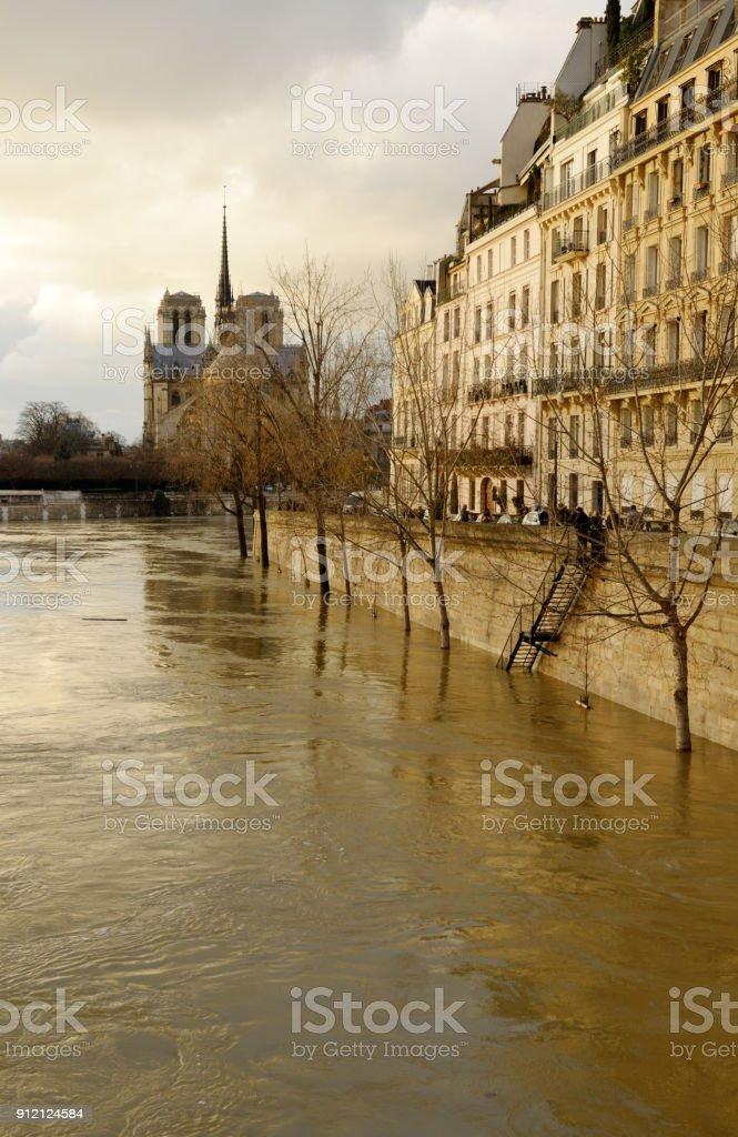 Ile Saint-Louis, Paris, France. stock photo
