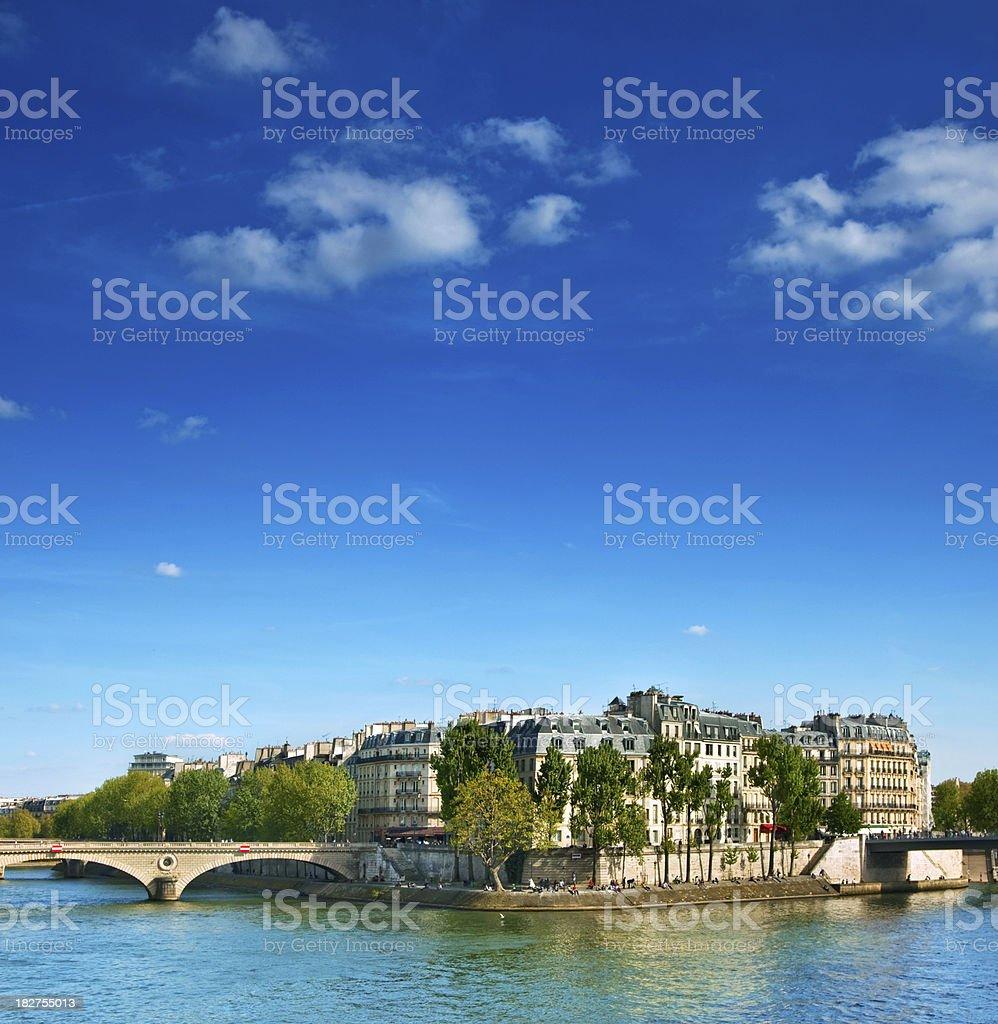 Ile Saint-Louis, Paris royalty-free stock photo