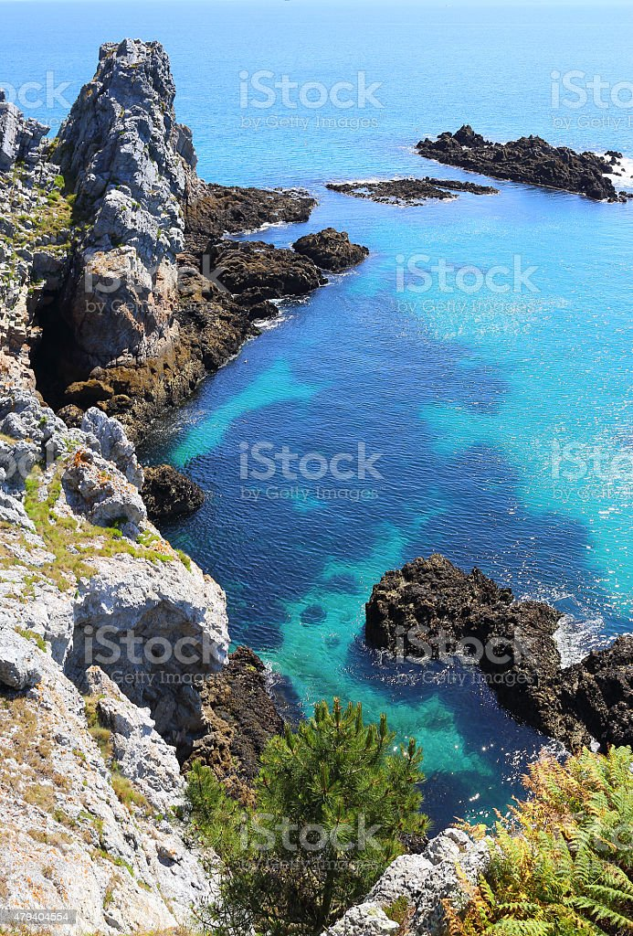 Ile Vierge, Crozon Peninsula stock photo