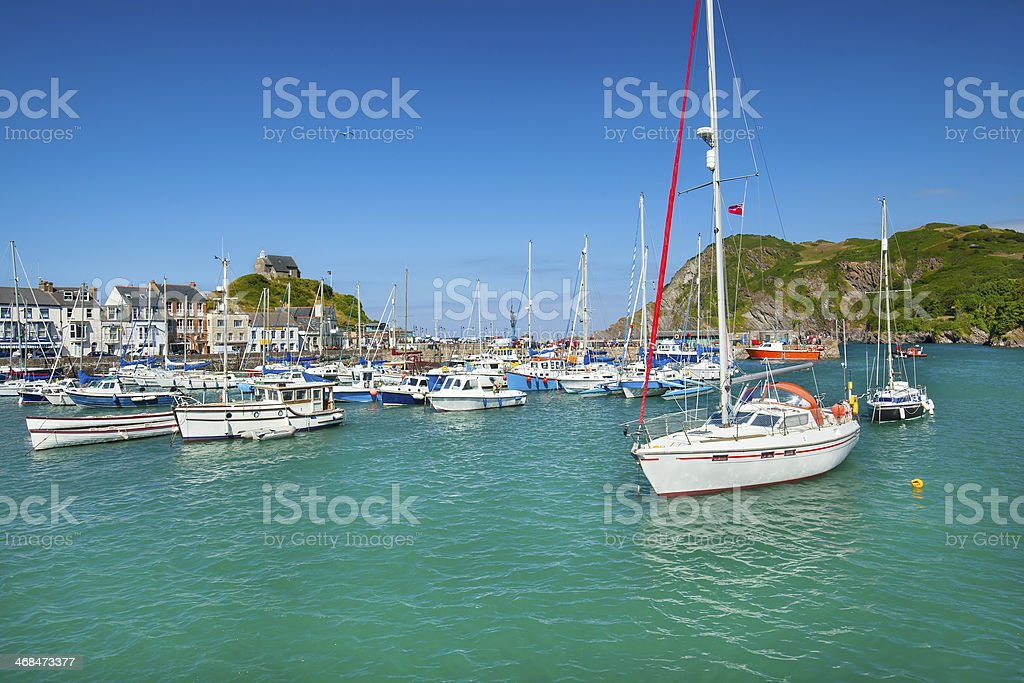 Ilfracombe harbor, North Devon, England, UK stock photo