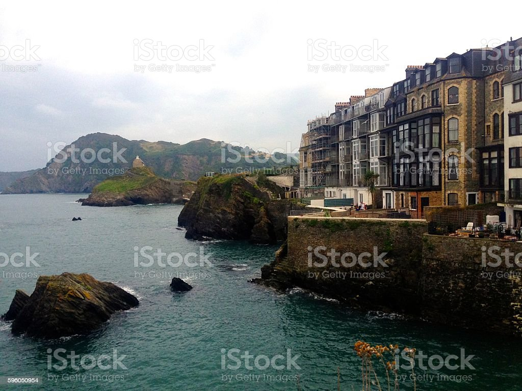 Ilfracombe sea front stock photo