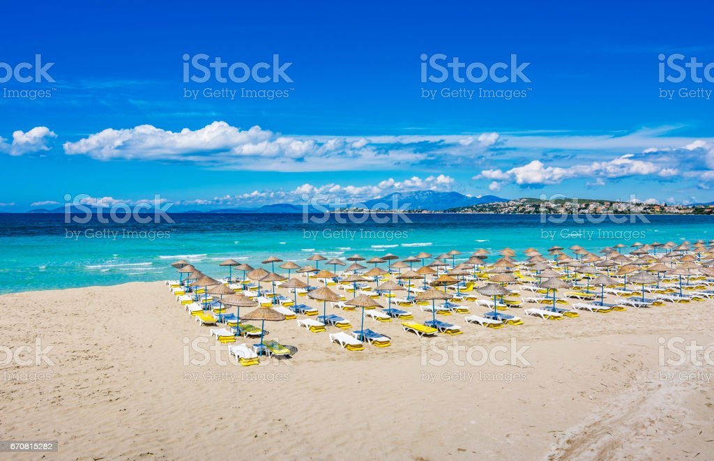 Ilica Beach view at spring time in the Turkey stock photo