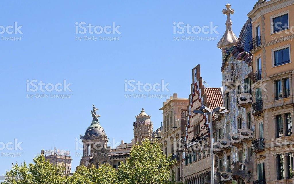 Illa de la Discordia -  modernist building in Barcelona stock photo