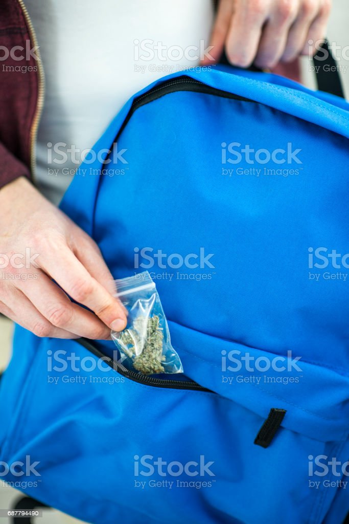 Illegal Drugs at School stock photo