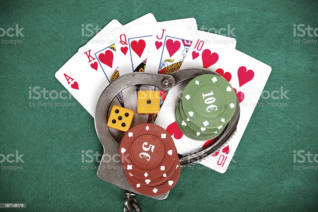 illegal gambling punishable by law stock photo