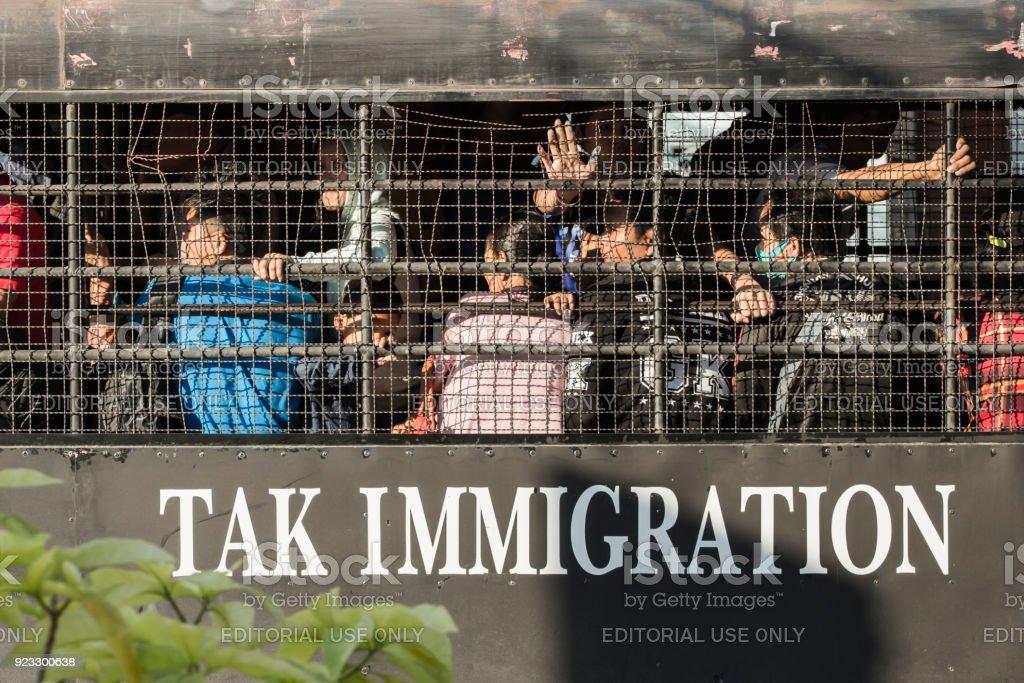 illegal immigrants stock photo