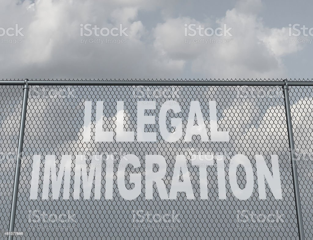 Illegal Immigration stock photo