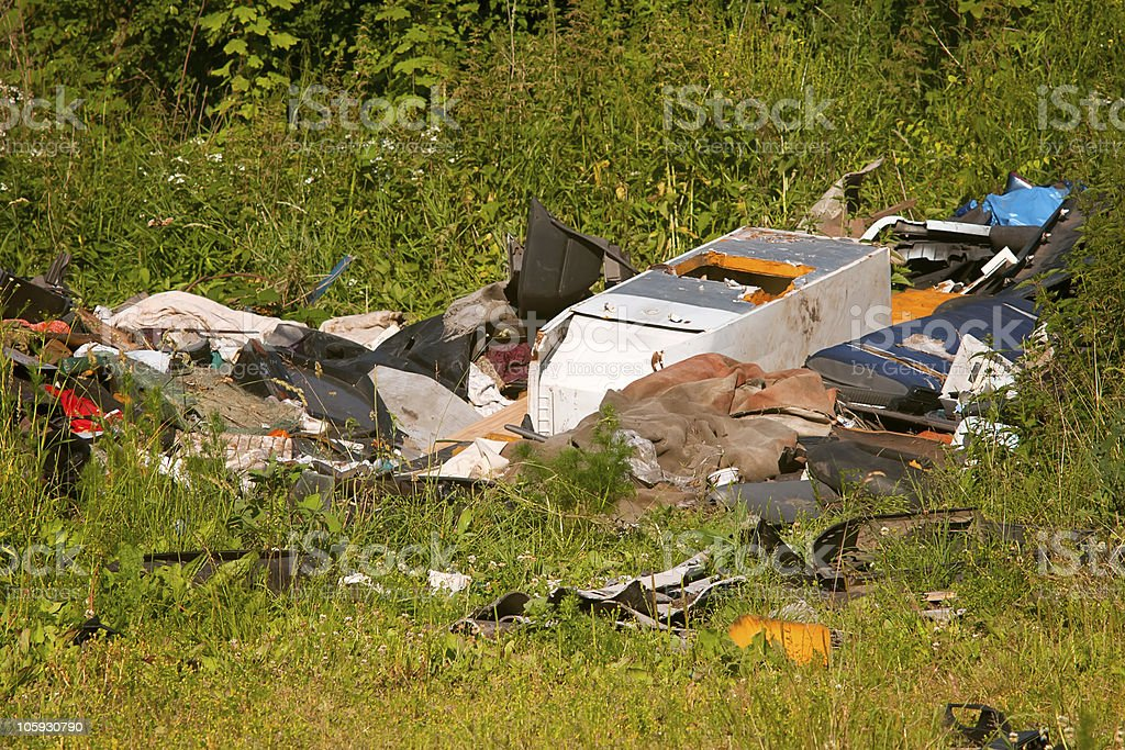 Illegal waste dump royalty-free stock photo