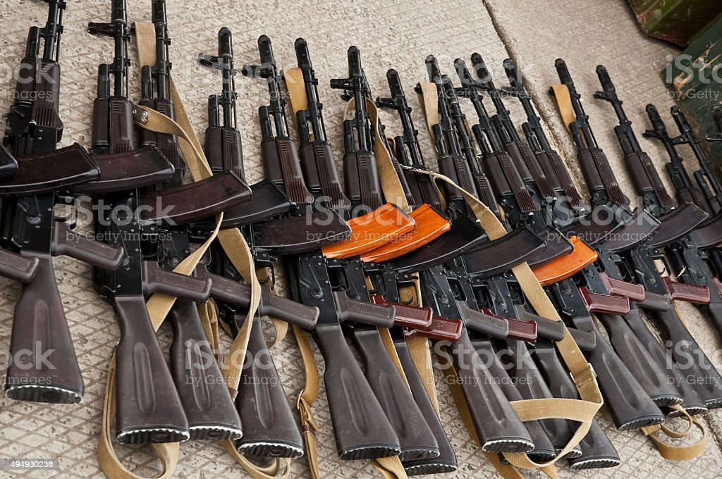 illicit arms trafficking stock photo
