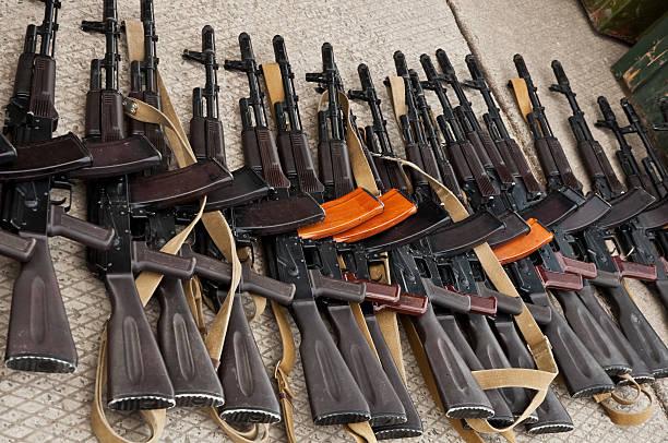 불법 암즈 악행 - 무기 뉴스 사진 이미지