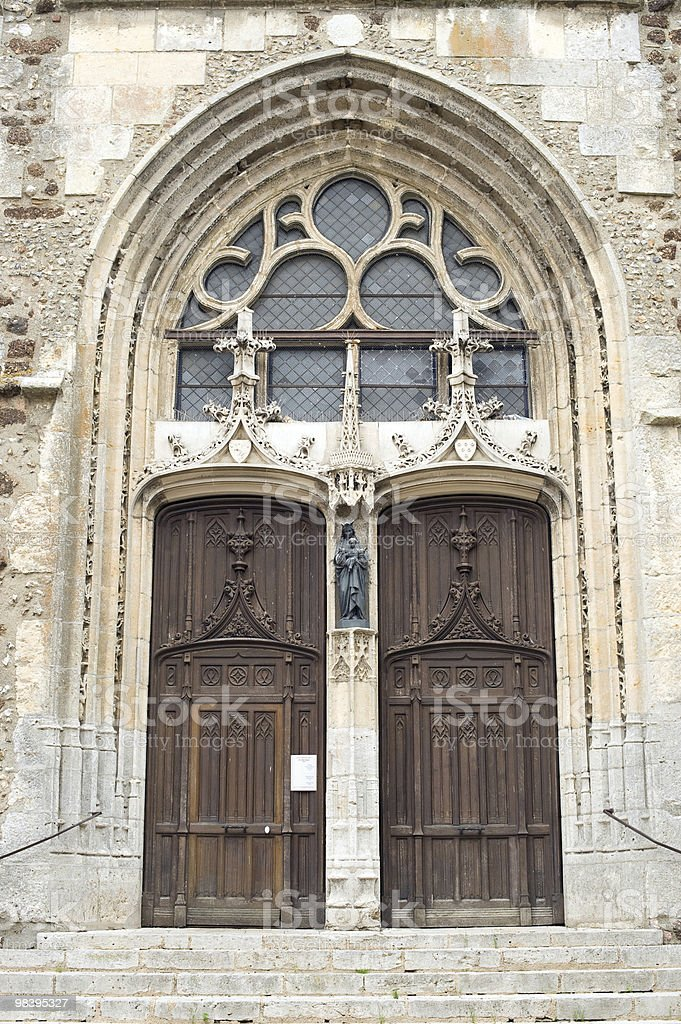 Illiers-Combray (France) - Church royalty-free stock photo