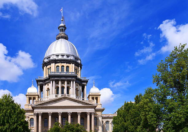 Illinois Capital Building in Springfield stock photo