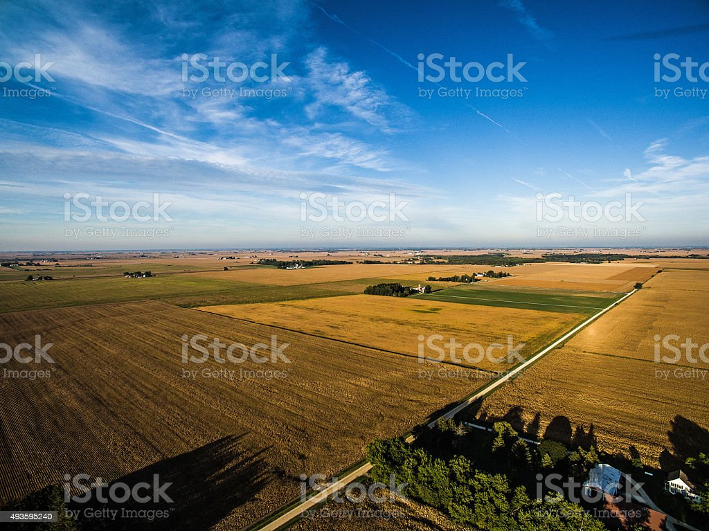 Illinois Farmland stock photo
