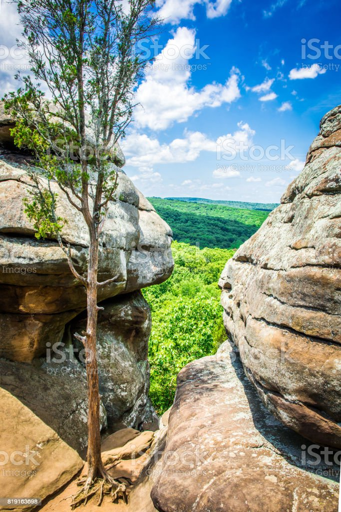 Illinois Garden of the Gods and Shawnee National Forest stock photo