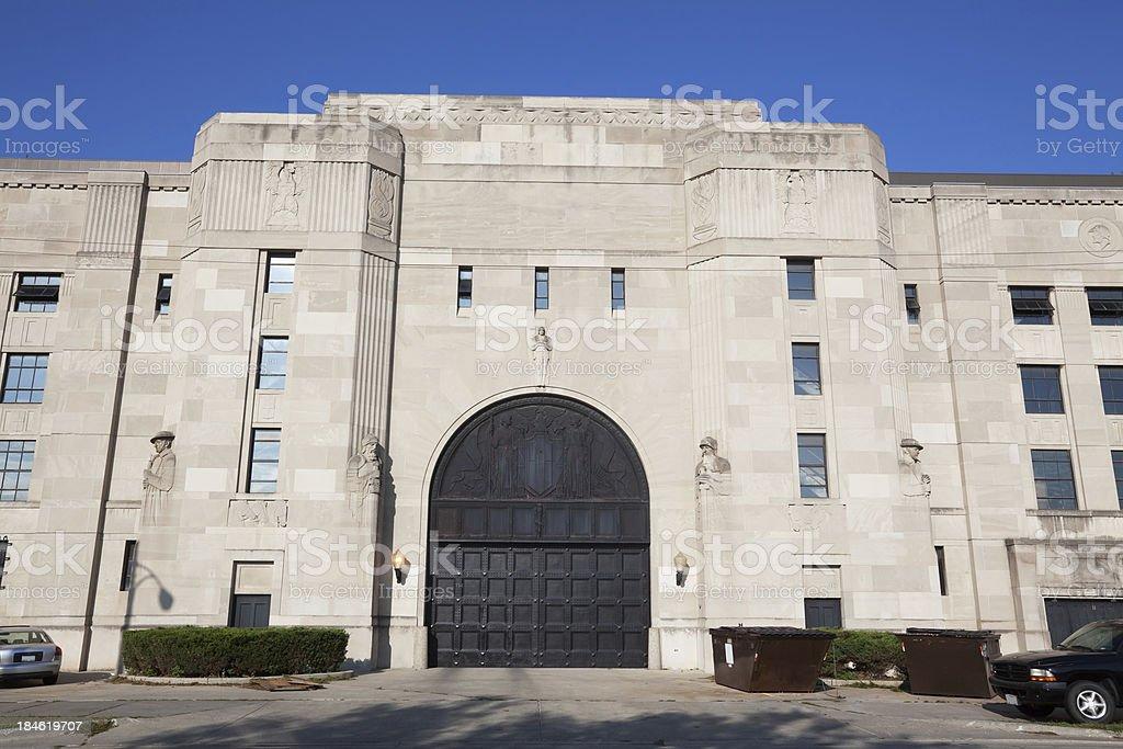 Illinois National Guard Building  in Washington Park, Chicago royalty-free stock photo