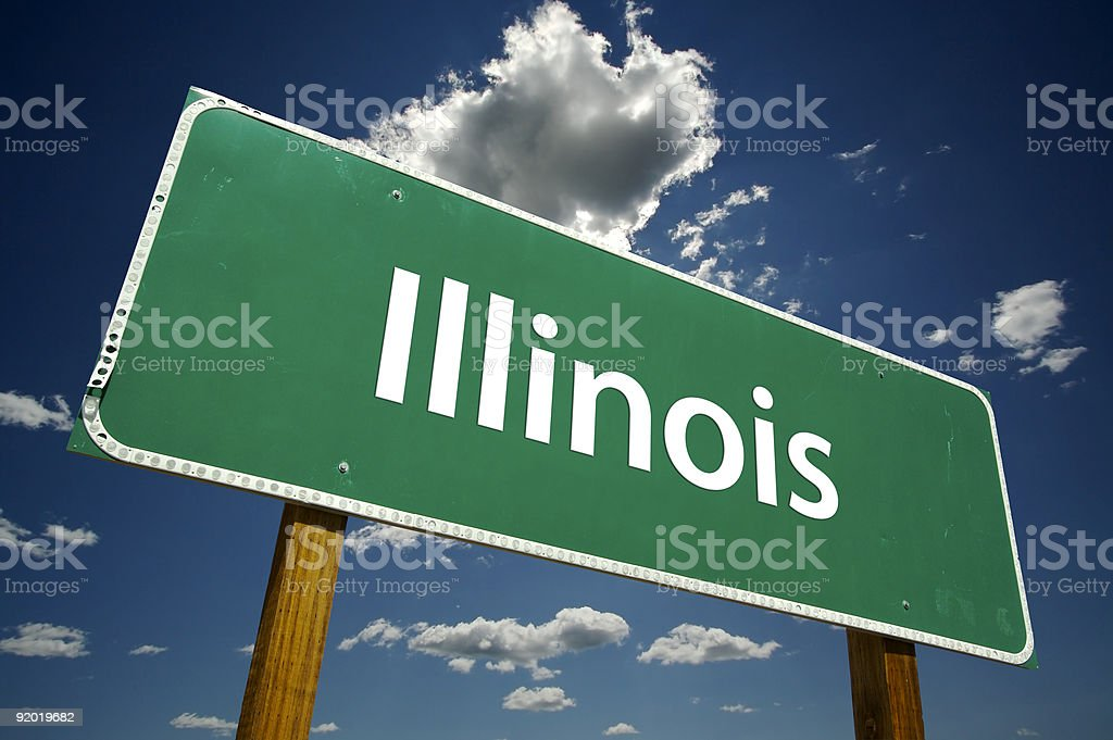 Illinois Road Sign royalty-free stock photo